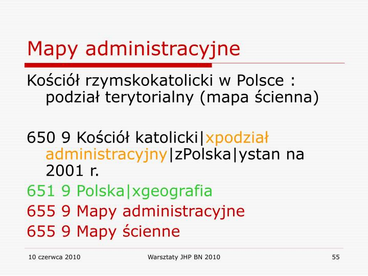 Mapy administracyjne