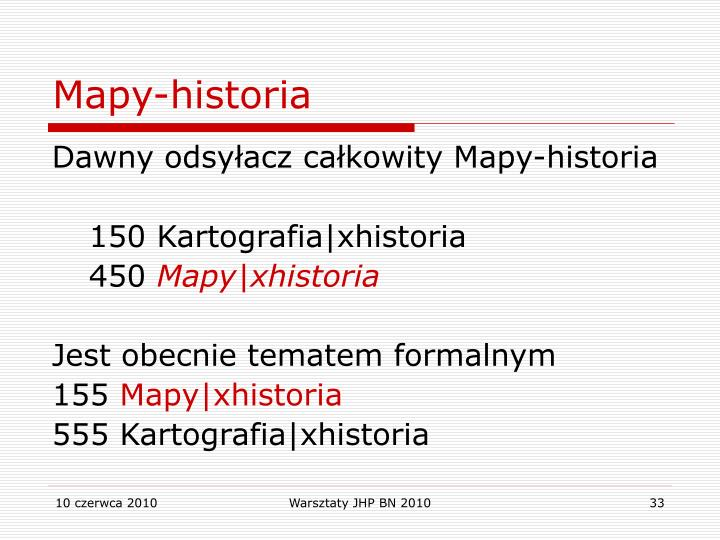 Mapy-historia