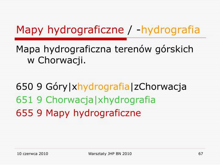 Mapy hydrograficzne