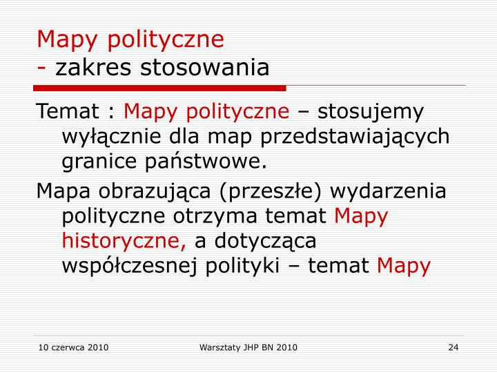 Mapy polityczne