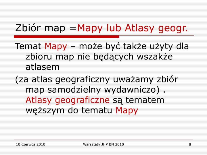 Zbiór map =