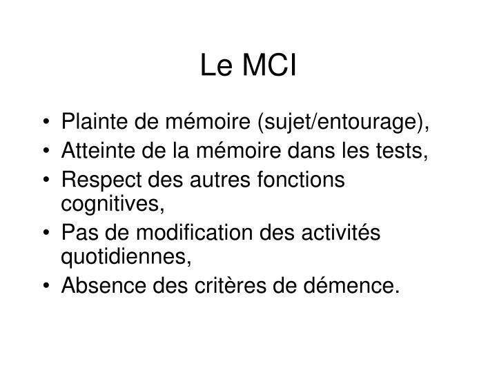 Le MCI