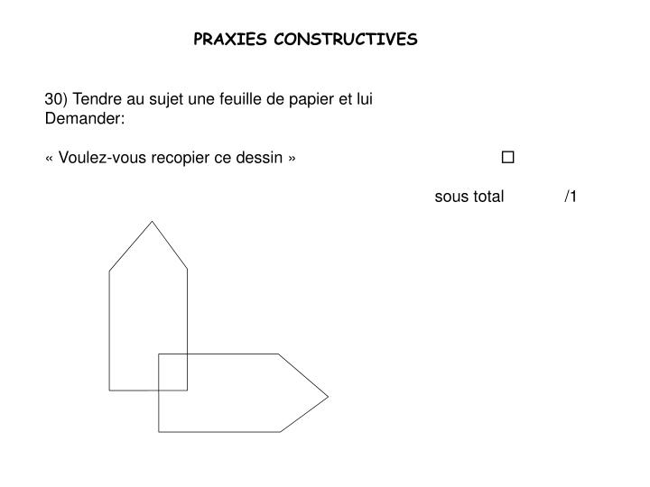 PRAXIES CONSTRUCTIVES