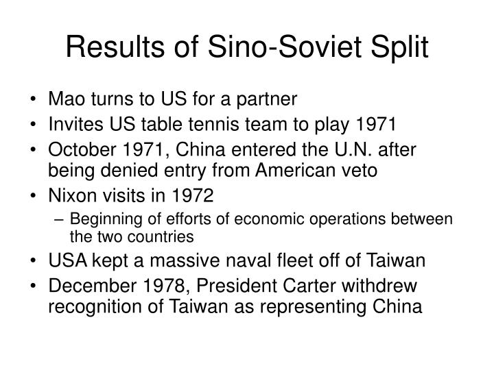 Results of Sino-Soviet Split