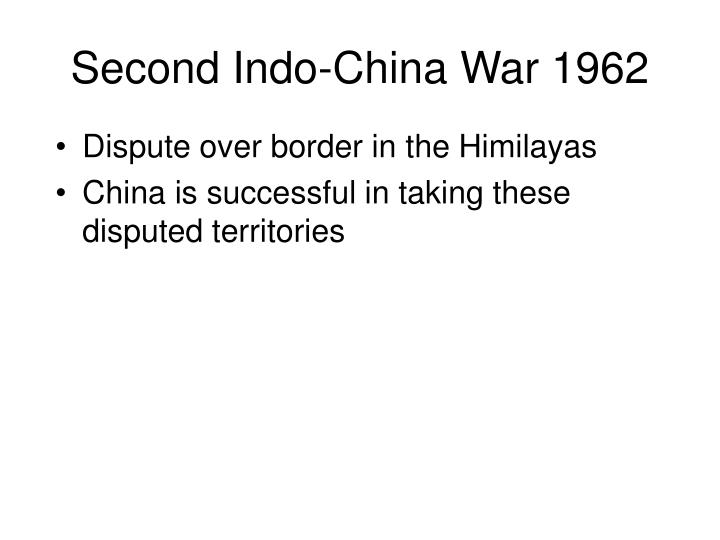 Second Indo-China War 1962