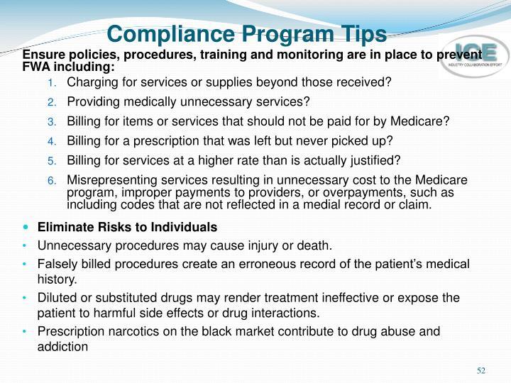 Compliance Program Tips