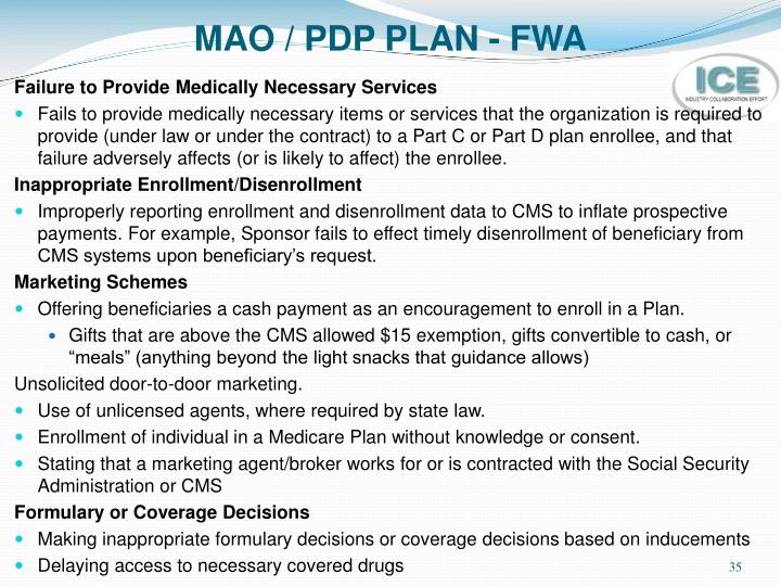 MAO / PDP PLAN - FWA