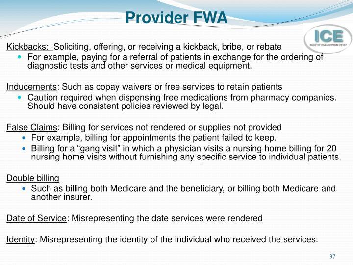 Provider FWA