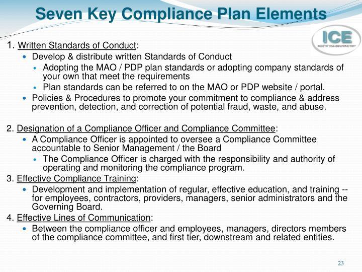 Seven Key Compliance Plan Elements