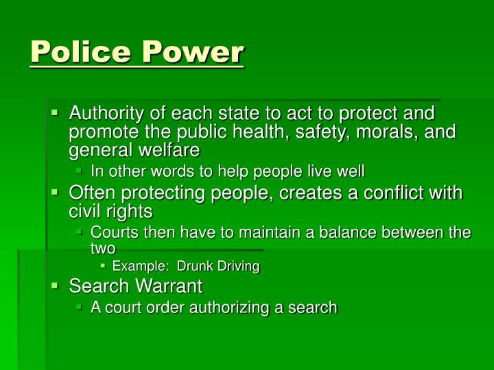 Police Power