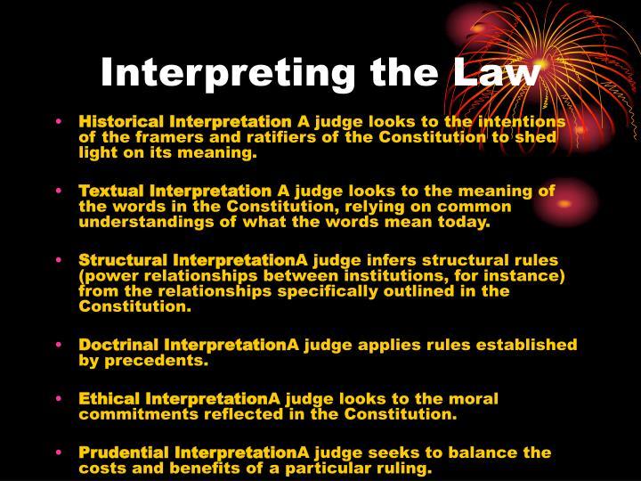 Interpreting the Law