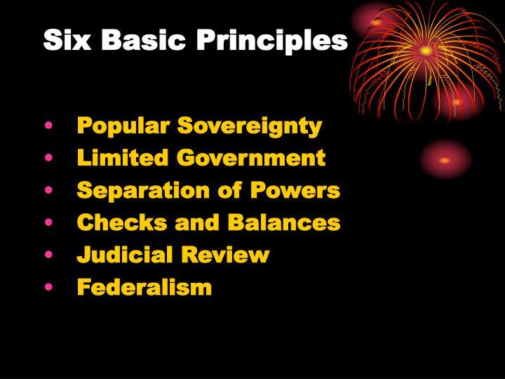 Six Basic Principles