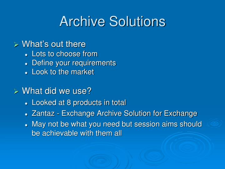 Archive Solutions