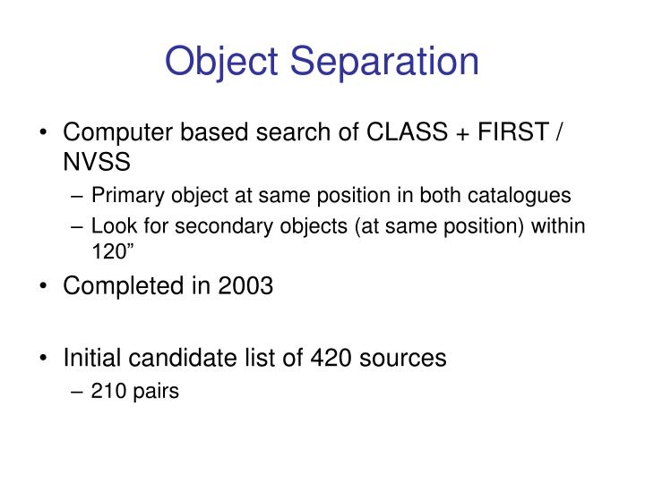 Object Separation