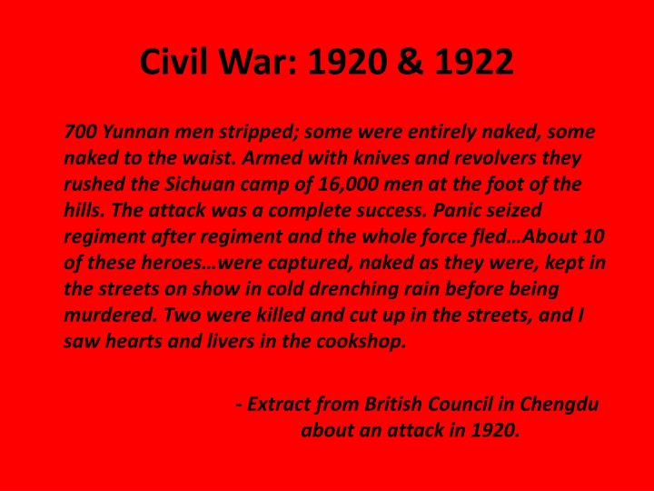 Civil War: 1920 & 1922