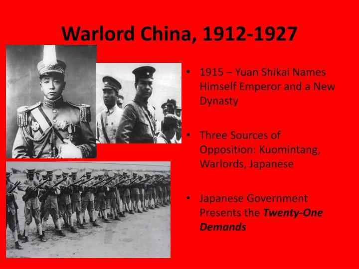 Warlord China, 1912-1927
