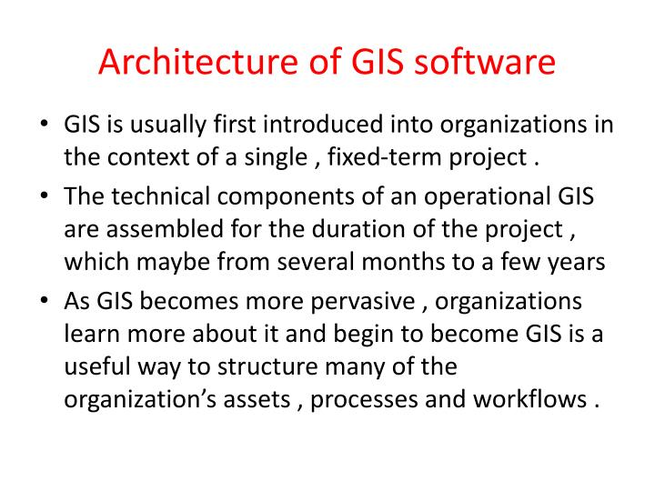Architecture of GIS software
