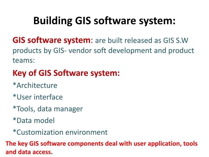 Building GIS software system: