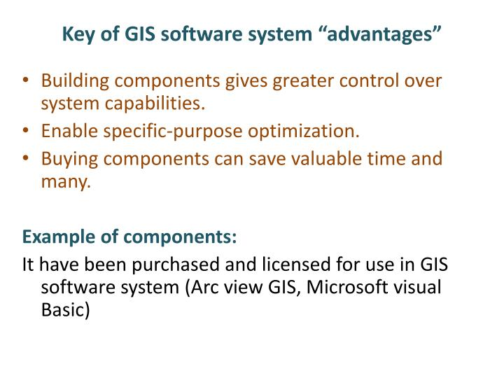 "Key of GIS software system ""advantages"""