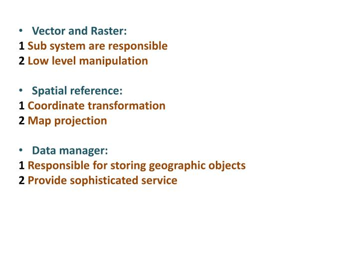 Vector and Raster: