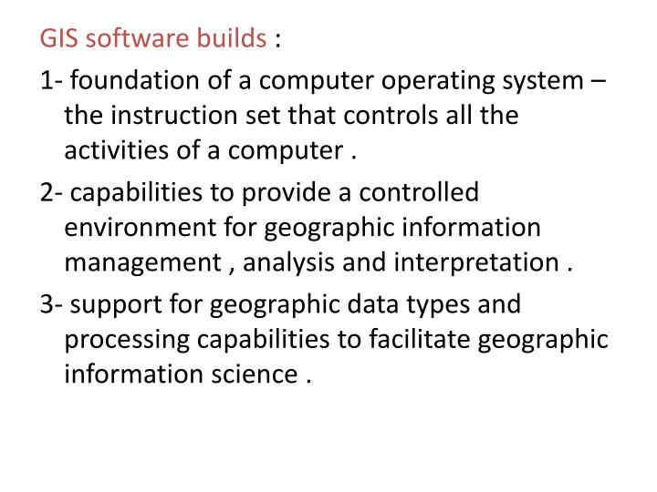 GIS software builds