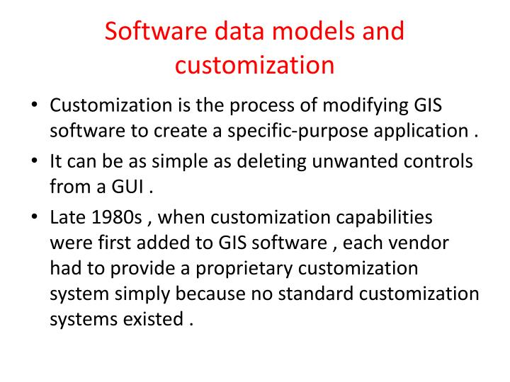 Software data models and customization