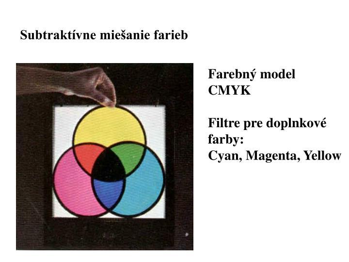 Subtraktívne miešanie farieb