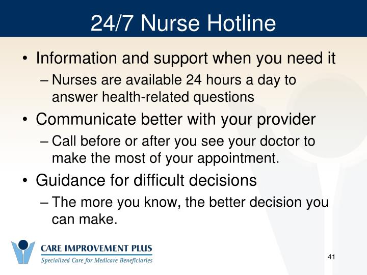 24/7 Nurse Hotline