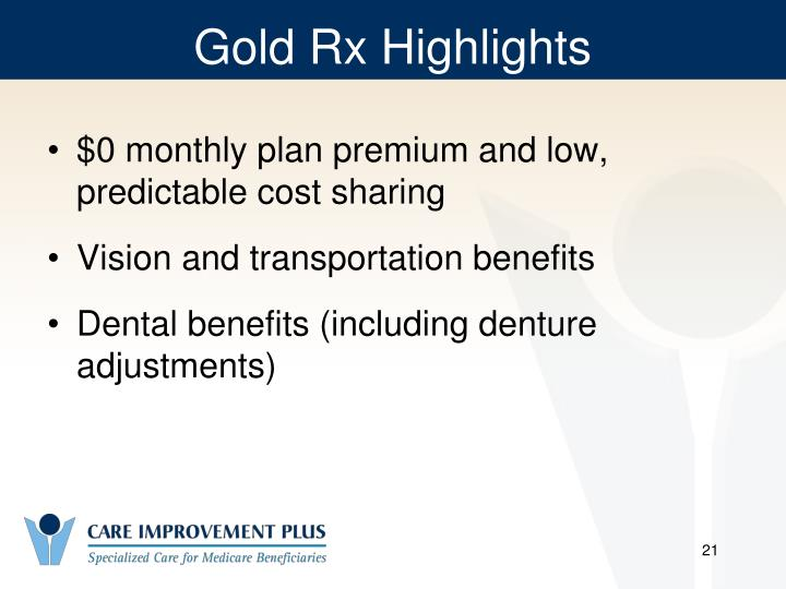 Gold Rx Highlights