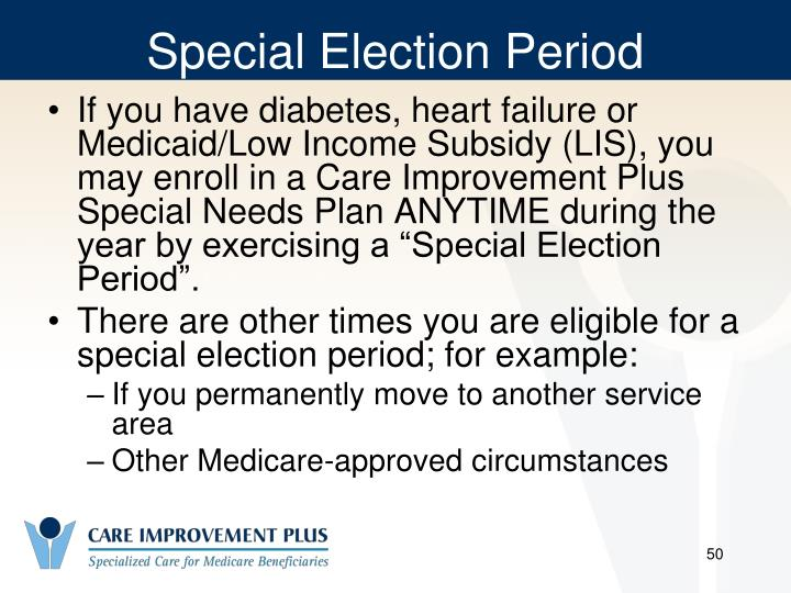 Special Election Period