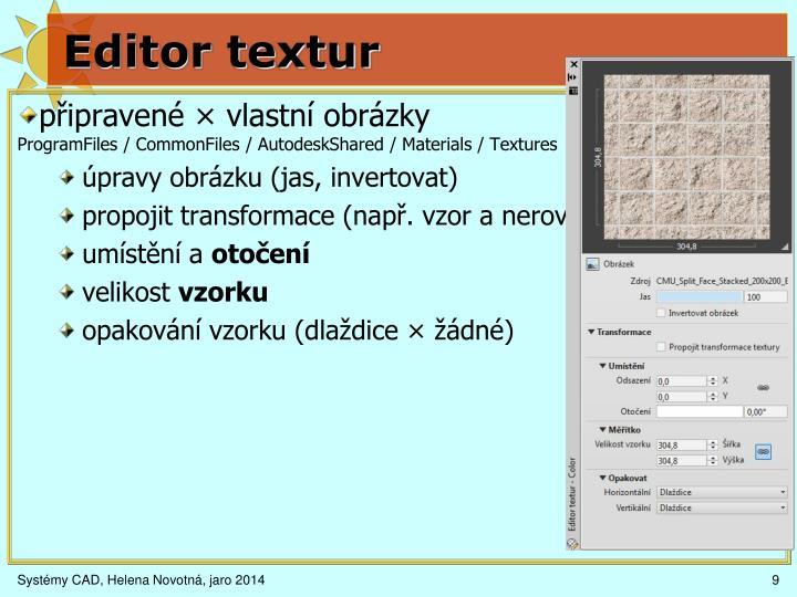 Editor textur