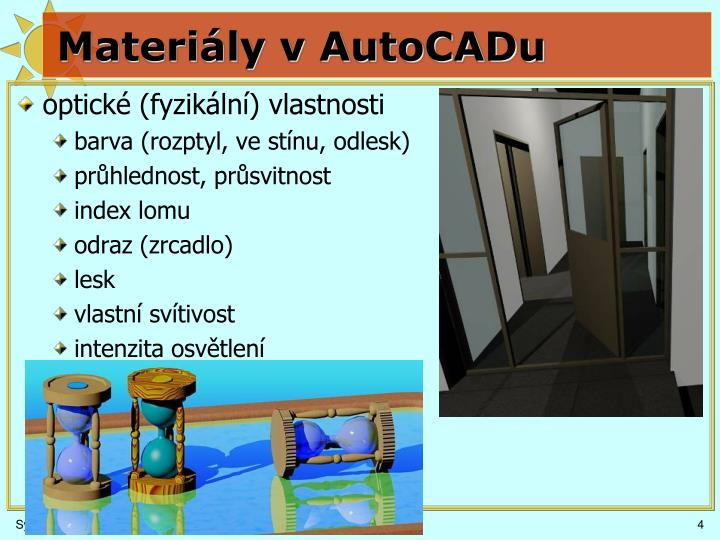 Materiály v AutoCADu