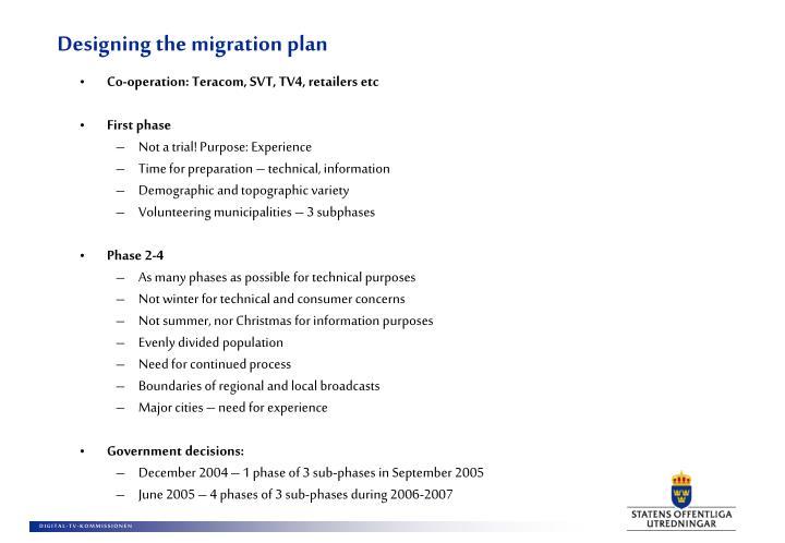 Designing the migration plan