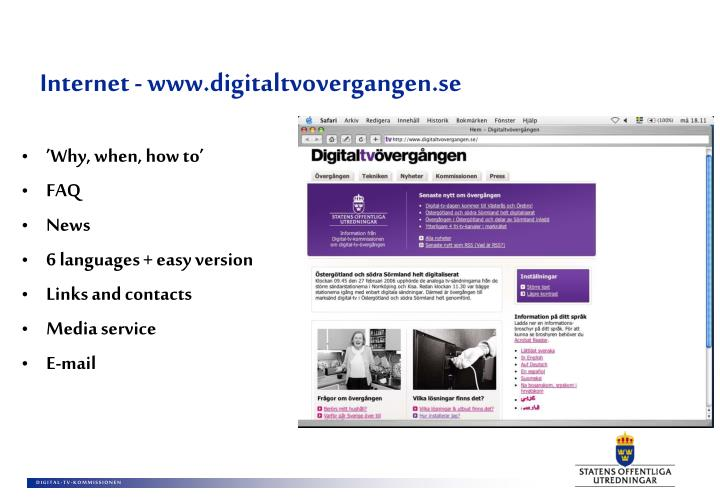 Internet - www.digitaltvovergangen.se
