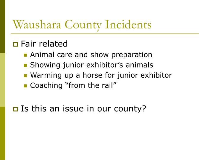 Waushara County Incidents