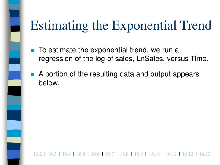 Estimating the Exponential Trend