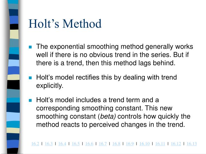Holt's Method