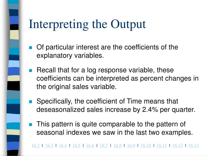 Interpreting the Output