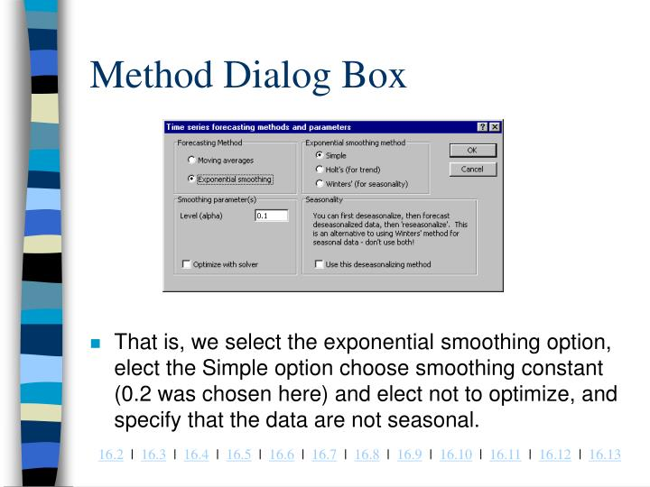 Method Dialog Box