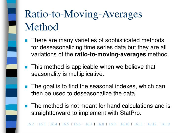 Ratio-to-Moving-Averages Method