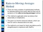 ratio to moving averages method