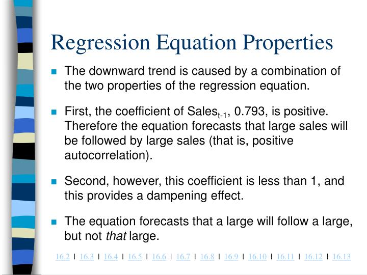 Regression Equation Properties