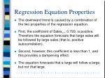 regression equation properties