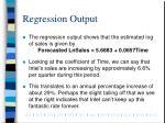 regression output