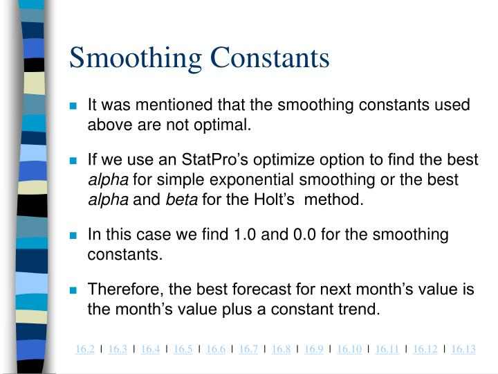 Smoothing Constants
