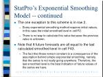 statpro s exponential smoothing model continued1