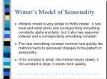 winter s model of seasonality