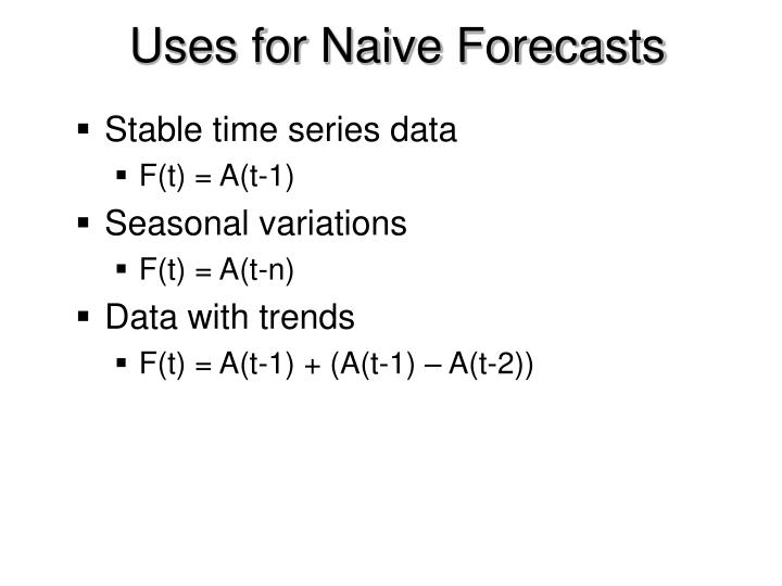 Uses for Naive Forecasts