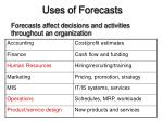 uses of forecasts