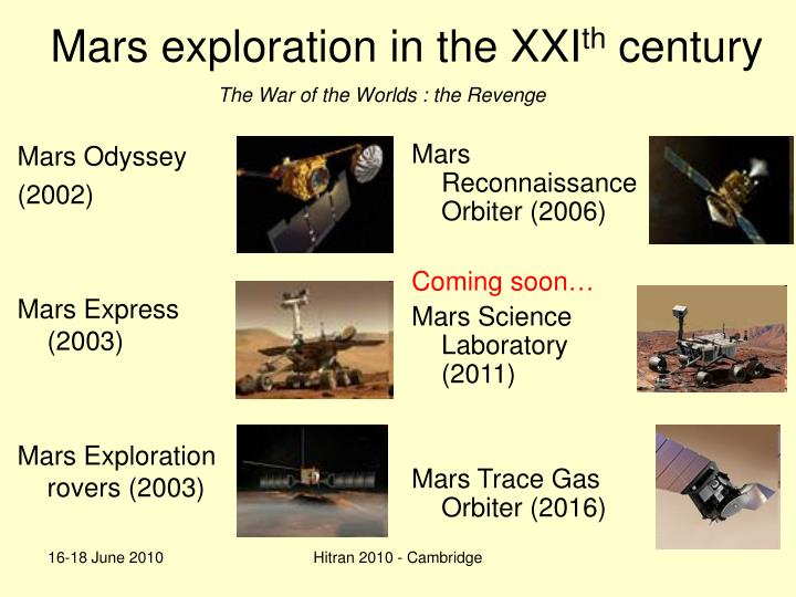 Mars exploration in the XXI
